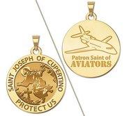 Saint Joseph of Cupertino Aviator  Religious Medal  EXCLUSIVE