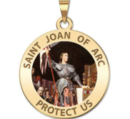 Saint Joan of Arc Religious Medal   color alternative EXCLUSIVE