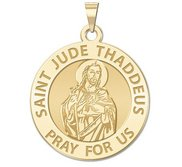 Saint Jude Round Religious Medal   EXCLUSIVE
