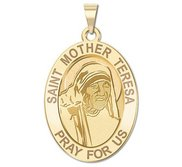 Saint Mother Teresa   Oval Religious Medal  EXCLUSIVE