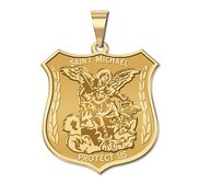 14K EXCLUSIVE Saint Michael Religious Medal