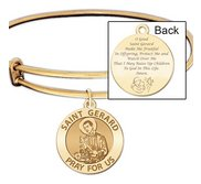 Expandable Bracelet W  Saint Gerard Charm    Motherhood Prayer  in Color or Laser Struck