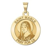 Saint Mable of Riom Round Religious Medal  EXCLUSIVE