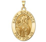 Saint Boniface Oval Religious Medal  EXCLUSIVE