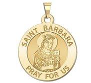 Saint Barbara Round Religious Medal  EXCLUSIVE