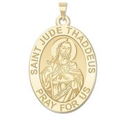 Saint Jude Oval Religious Medal   EXCLUSIVE