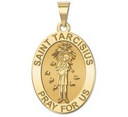 Saint Tarcisius   Oval Religious Medal  EXCLUSIVE