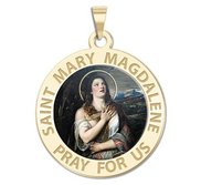 Saint Mary Magdalene Religious Medal  Color EXCLUSIVE