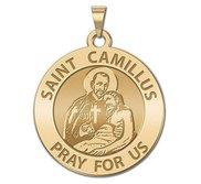 Saint Camillus Round Religious Medal  EXCLUSIVE