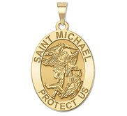 Saint michael medals pictures on gold saint michael oval religious medal exclusive mozeypictures Image collections