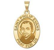 Saint Philip Evans Medal  OVAL  EXCLUSIVE