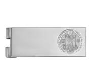 Stainless Steel Engravable Saint Benedict Money Clip