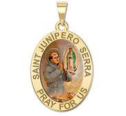 Saint Junipero Serra Oval Medal  EXCLUSIVE