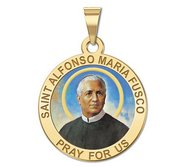 Saint Alfonso Maria Fusco Round Religious Medal  Color EXCLUSIVE