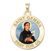Saint Gemma Galgani Medal   Color Round  EXCLUSIVE