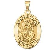 Saint Emidio Oval Religious Medal   EXCLUSIVE