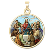 The Last Supper Round Religious Medal  Color EXCLUSIVE