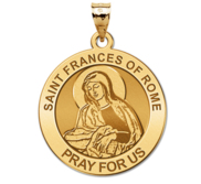 Saint Frances of Rome Round Religious Medal  EXCLUSIVE