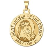 Saint Angela of the Cross Round Religious Medal  EXCLUSIVE