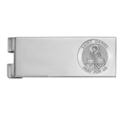 Stainless Steel Engravable Saint Daniel Money Clip