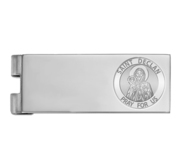 Stainless Steel Engravable Saint Declan Money Clip