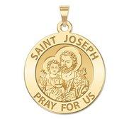 Saint Joseph Round Religious Medal  EXCLUSIVE