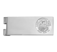 Stainless Steel Engravable Saint Thomas More Money Clip