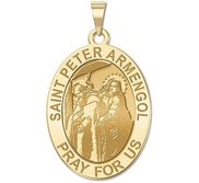 Saint Peter Armengol Oval Religious Medal  EXCLUSIVE
