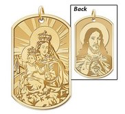 Scapular Double Sided Dog tag Religious Medal  EXCLUSIVE