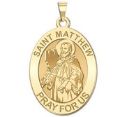 Saint Matthew OVAL Religious Medal   EXCLUSIVE