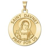 Saint Davnet Round Religious Medal  EXCLUSIVE