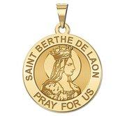 Saint Berthe De Laon Round Religious Medal   EXCLUSIVE