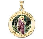 Saint Raphael  Color EXCLUSIVE  Religious Medal