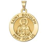 Saint Botulph Round Religious Medal  EXCLUSIVE