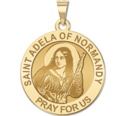 Saint Adela of Normandy Round Religious Medal    EXCLUSIVE