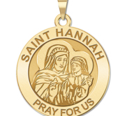 Saint Hannah Round Religious Medal  EXCLUSIVE