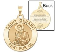 Saint Gerard Round  Expecting Mother  Prayer Double Sided Religious Medal