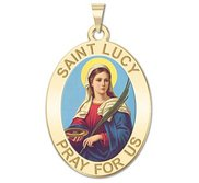 Saint Lucy Religious Medal   Color EXCLUSIVE