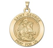 Saint George Round Religious Medal  EXCLUSIVE