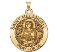 Saint Melangell Round Religious Medal  EXCLUSIVE