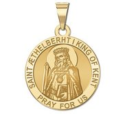 Saint AEthelberht Round Religious Medal   EXCLUSIVE