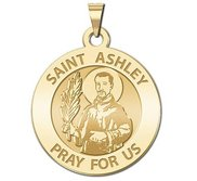 Saint Ashley Round Religious Medal  EXCLUSIVE