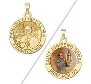 Double Sided Saint Junipero Serra   Pope Francis Papal Visit Washington DC Religious Medal  EXCLUSIVE