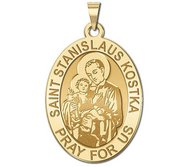 Saint Stanislaus Kostka   Oval Religious Medal  EXCLUSIVE
