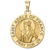 Saint Adele of France Round Religious Medal    EXCLUSIVE