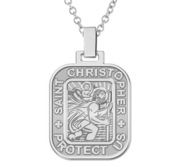 Saint Christopher Rectangle Religious Medal   EXCLUSIVE