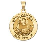Saint Almirus Round Religious Medal  EXCLUSIVE