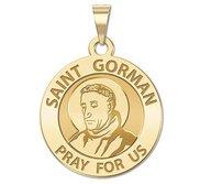 Saint Gorman Round Religious Medal  EXCLUSIVE