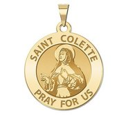 Saint Colette Round Religious Medal    EXCLUSIVE