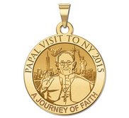 Pope Francis Papal NY Visit 2015    A Journey of Faith   Embossed Medal